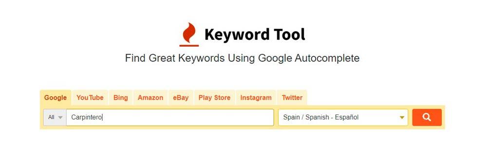 como enonctrar las mejores palabras clave con Keywordtool
