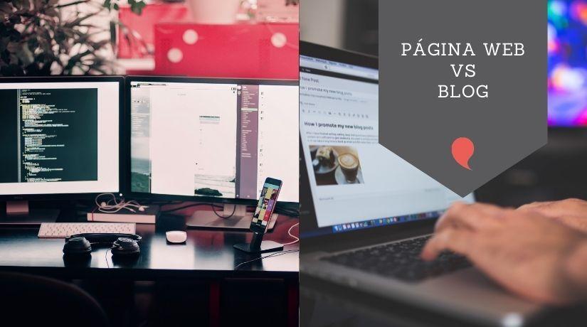 Diferencia entre página web y blog